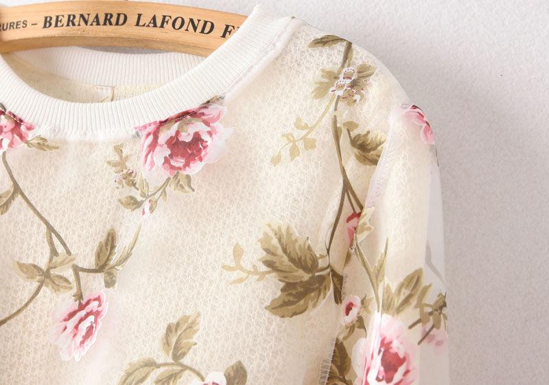 Wholesale Popular flower sweatshirts round collar saucy stylish ladies clothes TL-YPWY123101 - Lovely Fashion