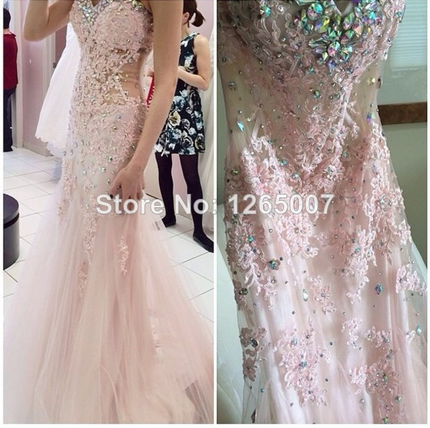 Aliexpress.com : Buy 2014 New Arrival Sweetheart See Through Waist Crystal Rhinestone Fitted Mermaid Slim Prom Dress Sexy Fashion Long Dress Summer from Reliable dress training suppliers on SFBridal