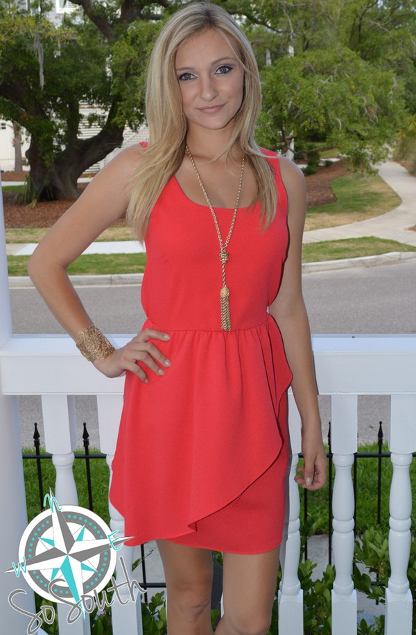 dress www.shopsosouth.com red coral