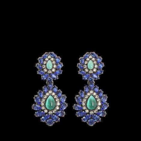Helene Zubeldia Crystal Opera large earrings  - MONNIER Frères