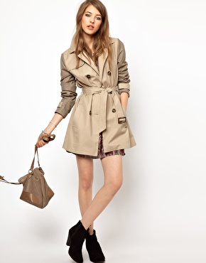 Pepe Jeans | Pepe Jeans London Trench Coat With Contrast Sleeves at ASOS