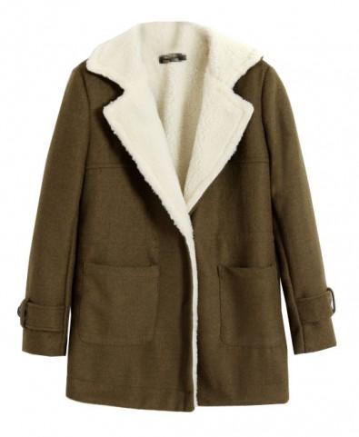 Lapel Collar Thicken Woolen Coat - Jackets & Coats - Clothing