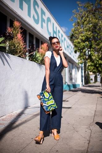 five friday faves (no. 9) blogger sweater shoes t-shirt bag sunglasses jumpsuit sandals clutch