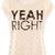 Light Pink Short Sleeve YEAH RIGHT Print T-Shirt - Sheinside.com
