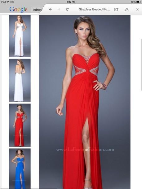 dress prom dress prom dress formal dress under $300 elegant formal rhinestones red dress red prom dress mesh dress