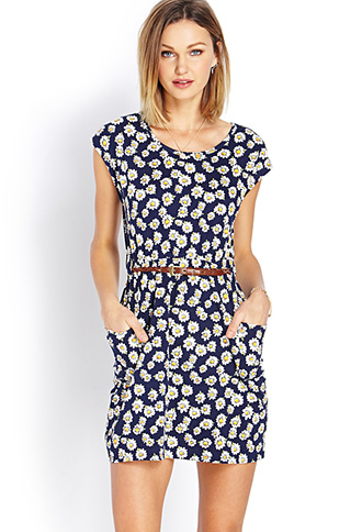 Darling Daisy Dress w/ Belt | FOREVER 21 - 2000061213