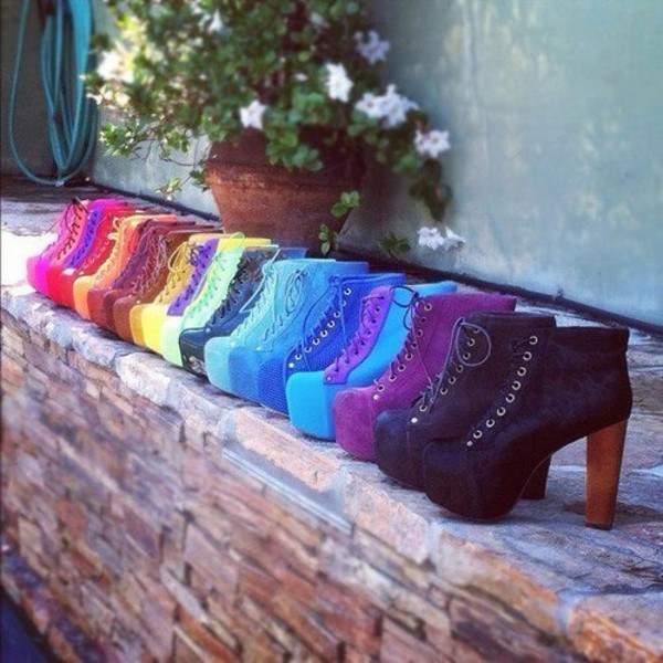 shoes colored