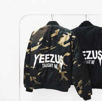 jacket yeezy thaught me yeezy black military style