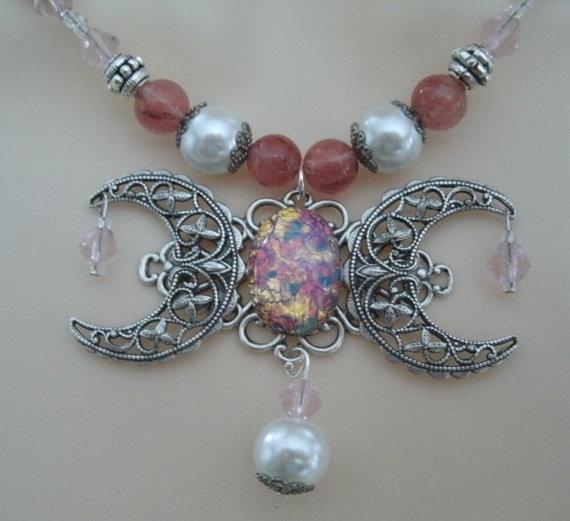 Triple Moon Halskette Wicca Schmuck heidnischen von Sheekydoodle