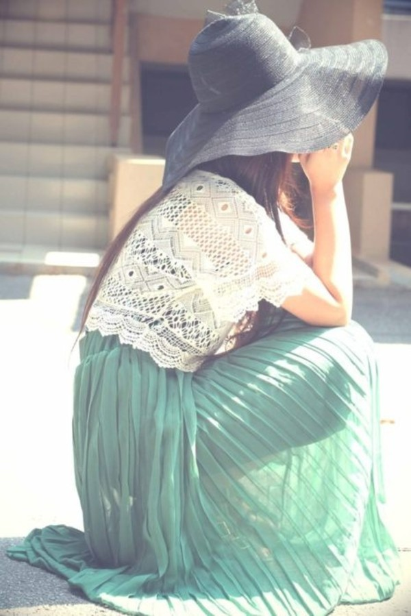 skirt green skirt