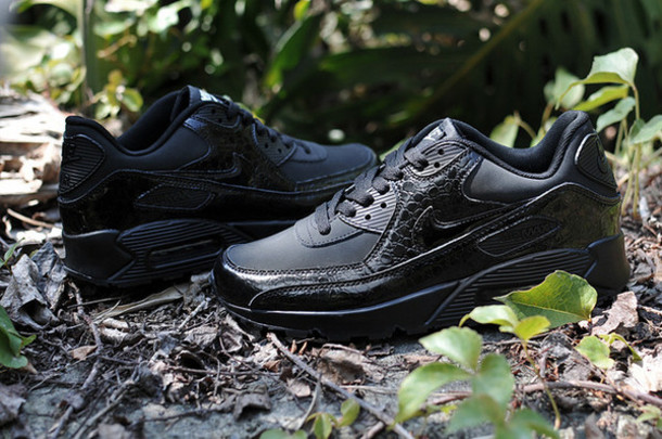 shoes nike air max 90 all black nike air max 90 black