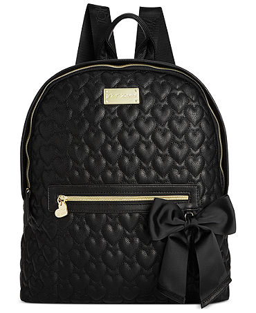 Betsey Johnson Quilted Backpack - Betsey Johnson - Handbags & Accessories - Macy's