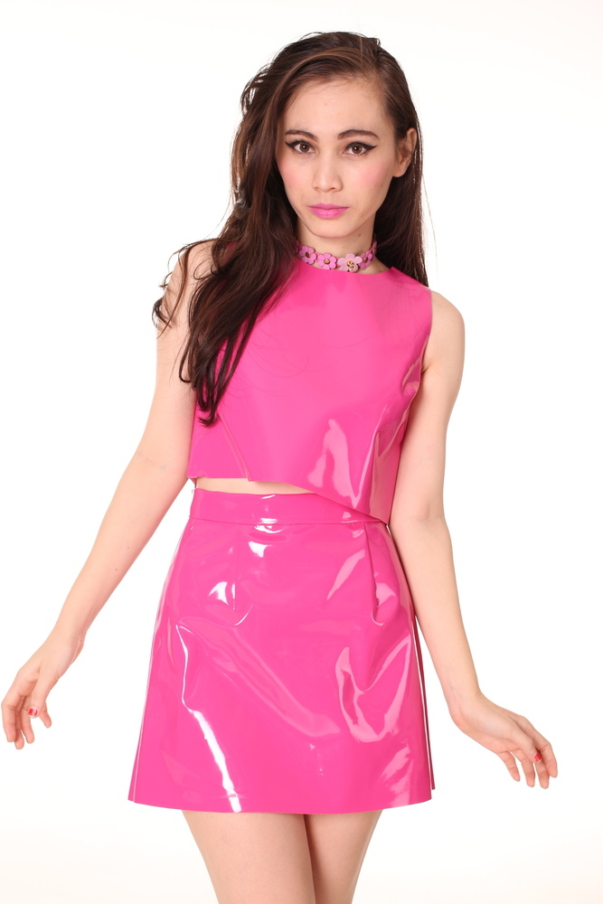 Glitters For Dinner — Made To Order - Hot Pink PVC Motel Set