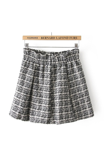 Sweet Scotland Grid Frilly Skirt [FMCC0177] - PersunMall.com