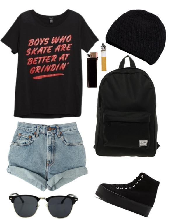 shorts summer denim shorts sunglasses bag shoes t-shirt