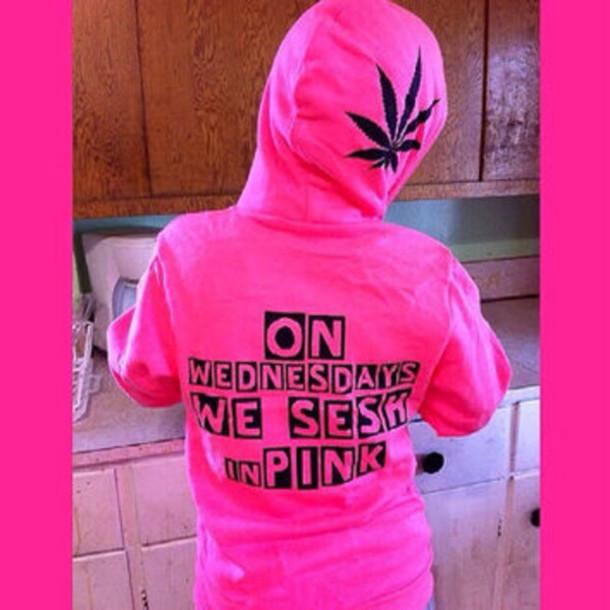 shirt hoodie pot 420 session smoke sweater sweatshirt custom hot pink mean girls