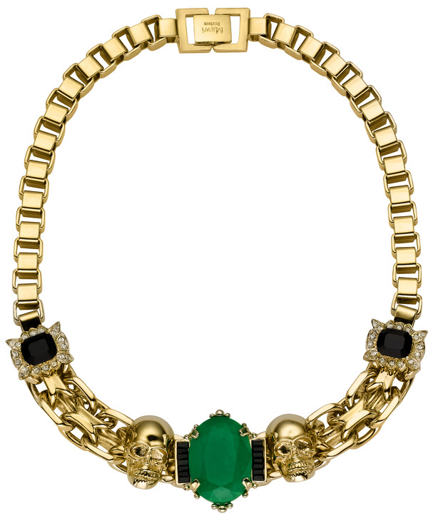 jewels necklace gold jade chain