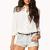 Everyday Denim Shorts w/ Belt | FOREVER 21 - 2040900369