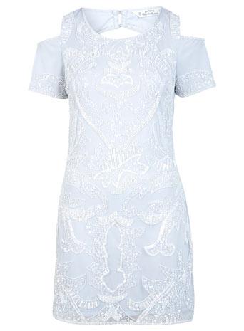 Petites Cold Shoulder Dress - Going Out Dresses  - Dress Shop  - Miss Selfridge