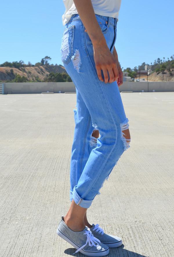 jeans boyfriend jeans acid wash