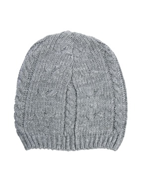 ASOS   ASOS Cable Oversized Beanie In Gray at ASOS