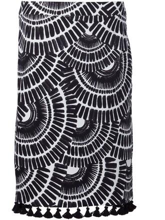 skirt ethnic print black