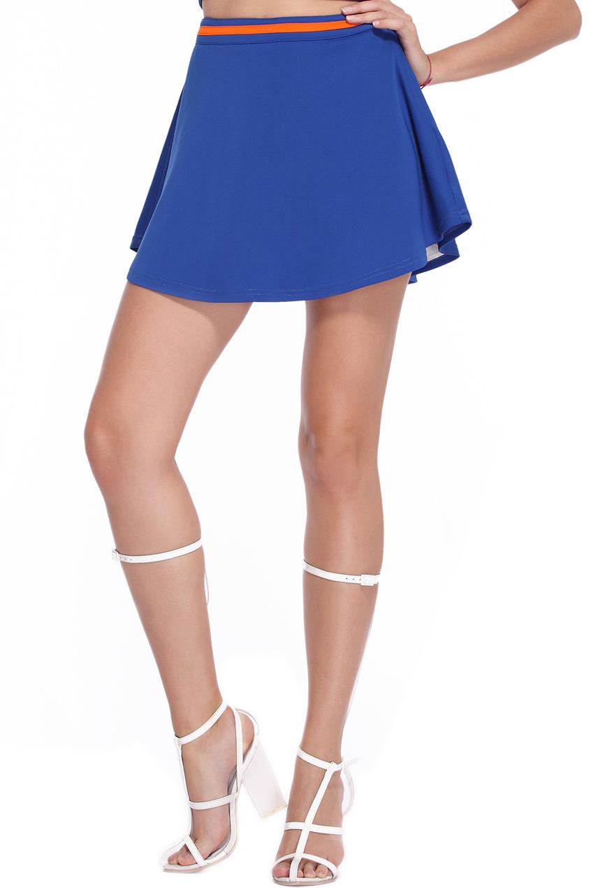 ROMWE | Dark Blue Sporty Skirt, The Latest Street Fashion