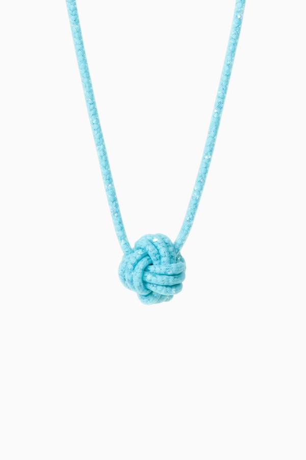 jewels jewels knot blue necklace