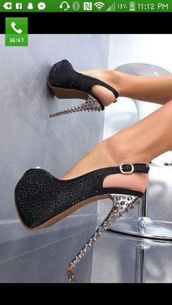 shoes heels black heels