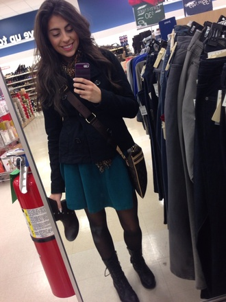 skirt teal american apparel circle skirt corduroy