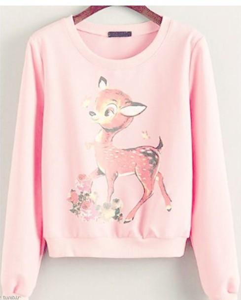 sweater shirt pastel pink disney cute