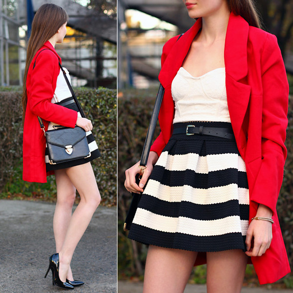 Limited Edition Red Woolen Coat | Choies