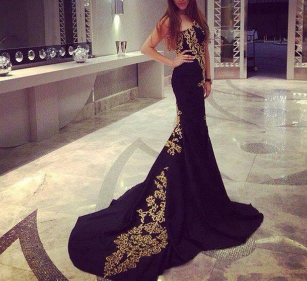 dress gown long gown black gown black long gown