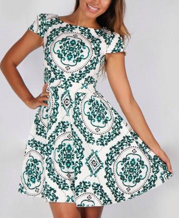 Baroque Dress - Juicy Wardrobe