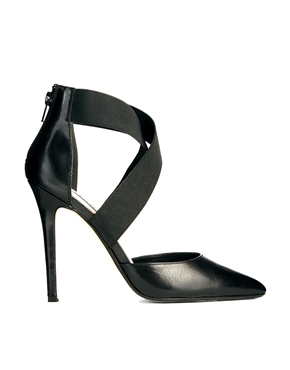 Dune   Dune Demie Black Pointed Strappy Court Shoes at ASOS