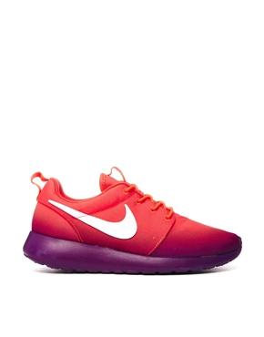 Nike | Nike Purple Two Tone Rosherun Print Trainers at ASOS