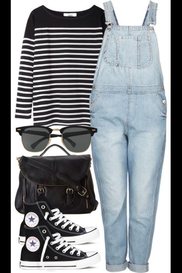 pants dungarees denim denim overalls hippie boho boho chic style cool love more shirt