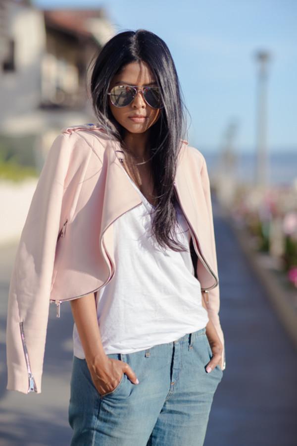 jeans sunglasses fashion jacket t-shirt