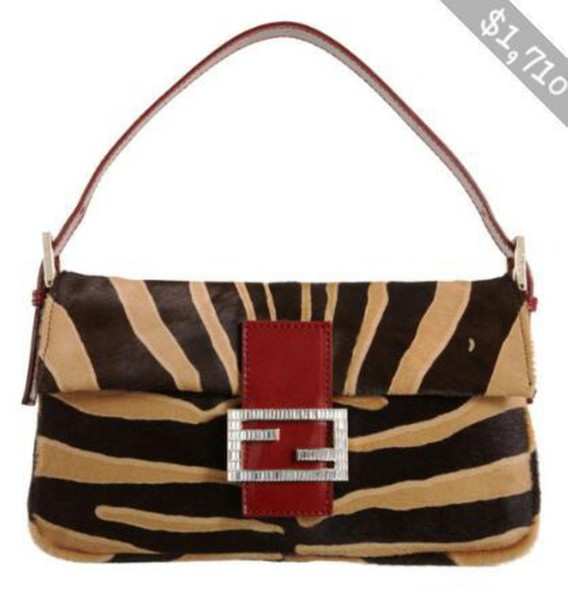 bag zebra beige fendi