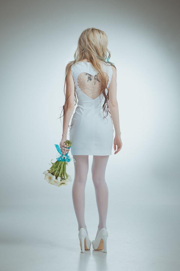 dress undefined wedding dress pink forever hill heart sparkle sequins hipster wedding heart cut out short wedding dress