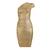Single Shoulder Gold Dress H108J$119