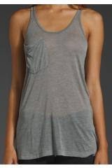 Kain Classic Pocket Tank in Gray (heather grey) | Lyst