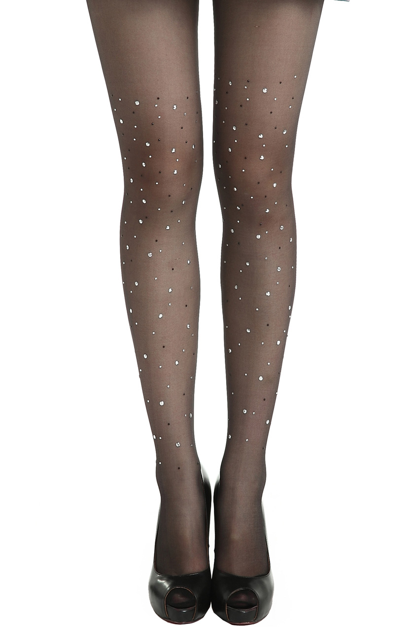 ROMWE | Fake Diamonds Dark-grey Tights, The Latest Street Fashion
