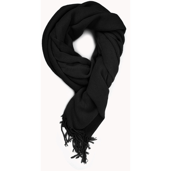 FOREVER 21 Cozy Fringed Scarf - Polyvore