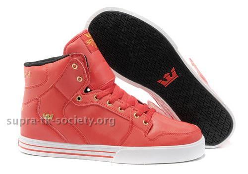 Supra Vaider High Top Skate Shoes Mens Pink White - [Supra Vaider High] - (Price:$73.50)
