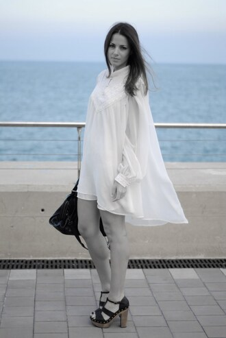 zina white dress dress