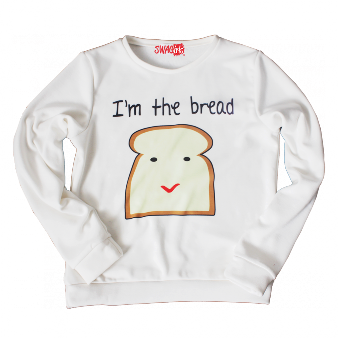 I'M THE BREAD fleece sweater - swagirls