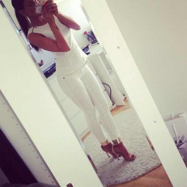 shoes strappy sandals gold high heels shirt