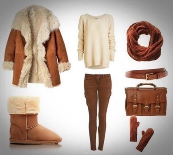 coat shearling fur faux shirt satchel bag bag