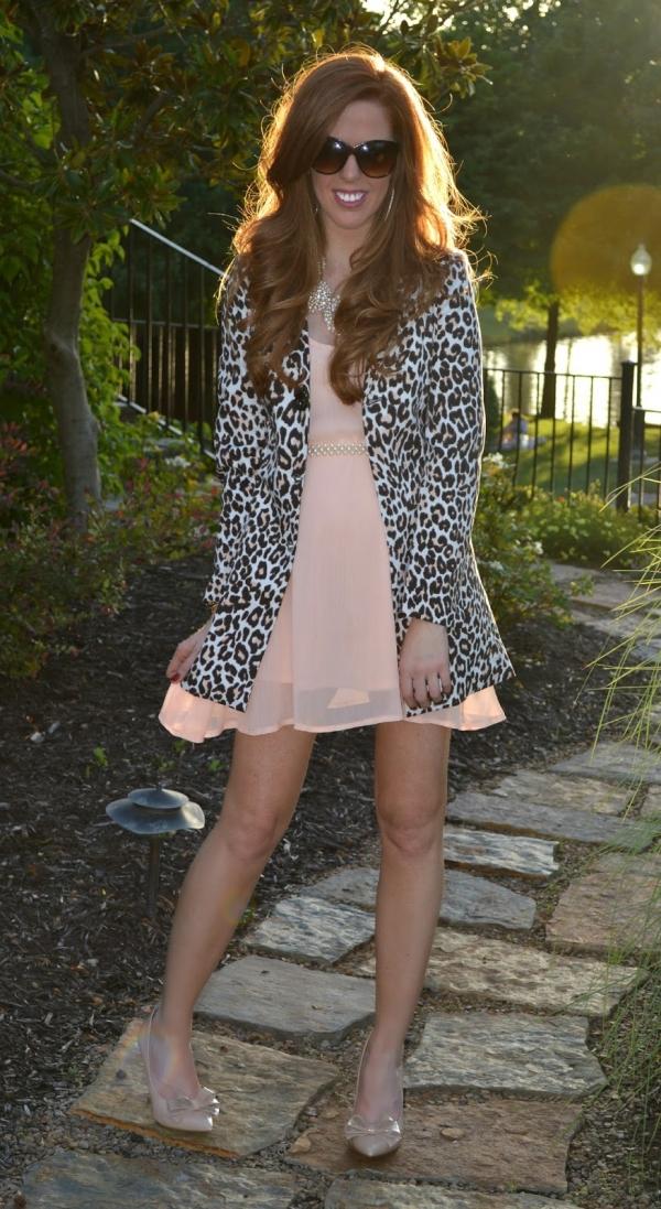 Leopard Turn-Down Collar Blazer - OASAP.com